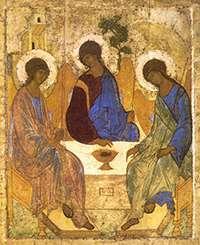 Icoana Ortodoxa a Sfintei Treimi de Andrei Rubliov